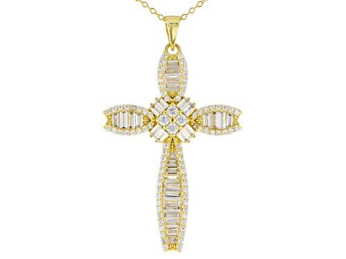 Photo of Bella Luce ® 4.55ctw Eterno™ Yellow Cross Pendant With Chain (2.80ctw DEW)