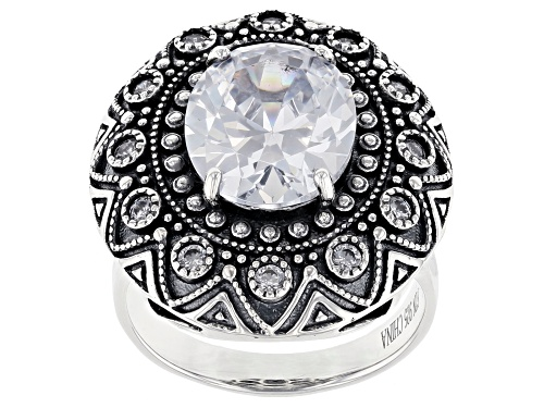 Photo of Bella Luce ® 8.64ctw Rhodium Over Sterling Silver Ring (5.35ctw DEW) - Size 8