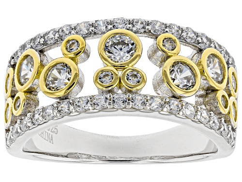 Photo of Bella Luce ® 1.96ctw White Diamond Simulant Rhodium And 14K Yellow Gold Over Silver Ring - Size 6