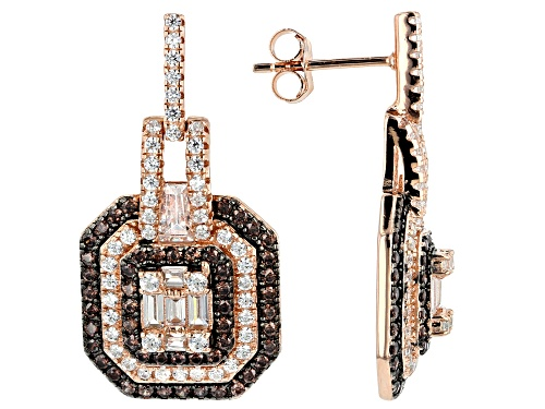 Photo of Bella Luce ® 3.59ctw Mocha And White Diamond Simulants Eterno™ Rose Earrings (2.21ctw DEW)