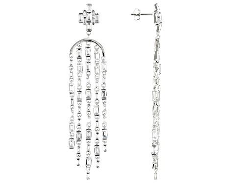 Bella Luce ® 18.44ctw Rhodium Over Sterling Silver Dangle Earrings (12.04ctw DEW)