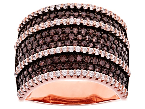 Photo of Bella Luce ® 2.96ctw Mocha And White Diamond Simulants Eterno™ Rose Ring (1.81ctw DEW) - Size 8