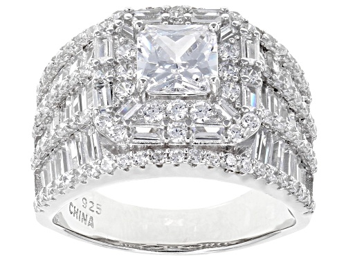Photo of Bella Luce ® 8.83ctw White Diamond Simulant Rhodium Over Sterling Silver Ring (6.27ctw DEW) - Size 5