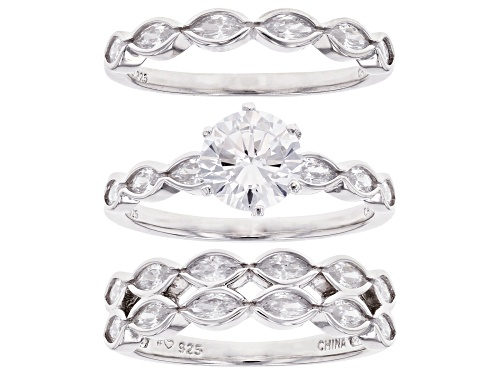 Photo of Bella Luce ® 5.49ctw Rhodium Over Sterling Silver Ring With 2 Bands (3.68ctw DEW) - Size 8