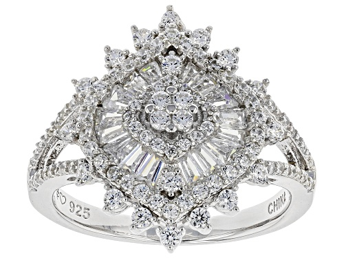 Photo of Bella Luce ® 2.19ctw White Diamond Simulant Rhodium Over Sterling Silver (1.35ctw DEW) - Size 8