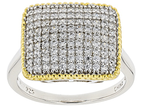 Photo of Bella Luce ® 1.08ctw White Diamond Simulant Rhodium Over Sterling Silver Ring (0.65ctw DEW) - Size 7