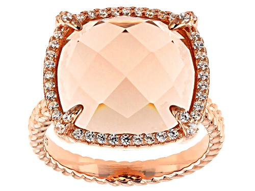 Photo of Bella Luce ® Esotica™ 17.34ctw Morganite And White Diamond Simulants Eterno™ Rose Ring - Size 7