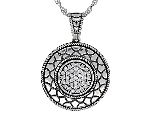 Photo of Bella Luce ® 0.41ctw Rhodium Over Sterling Silver Pendant With Chain (0.41ctw DEW)