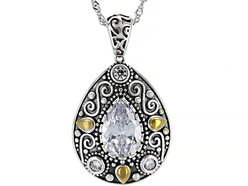 Photo of Bella Luce  5.24ctw Rhodium Over Sterling Silver Pendant With Chain (3.24ctw DEW)