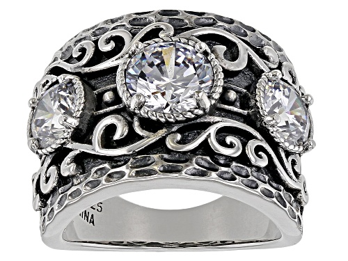 Photo of Bella Luce ® 4.78ctw White Diamond Simulant Rhodium Over Sterling Ring (2.96ctw DEW) - Size 5