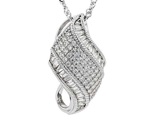 Photo of Bella Luce ® 2.26ctw Rhodium Over Sterling Silver Pendant With Chain (1.31ctw DEW)