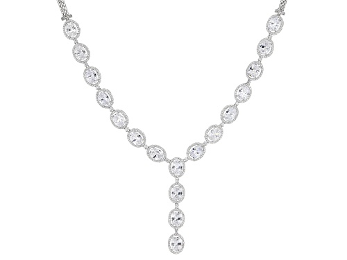 Photo of Bella Luce ® 40.53ctw Rhodium Over Sterling Silver Necklace (24.70ctw DEW) - Size 18