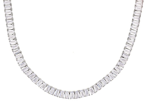 Photo of Bella Luce ® 64.13ctw White Diamond Simulant Rhodium Over Silver Tennis Necklace (39.15ctw DEW) - Size 18