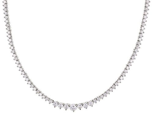 Photo of Bella Luce ® 12.72ctw Rhodium Over Sterling Silver Tennis Necklace (6.85ctw DEW) - Size 18