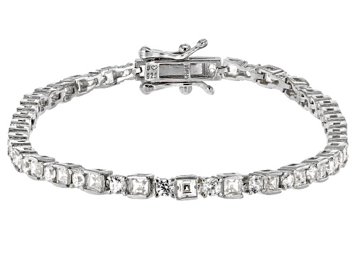 Photo of Bella Luce ® 5.70ctw White Diamond Simulant Rhodium Over Silver Tennis Bracelet (2.59ctw DEW) - Size 8