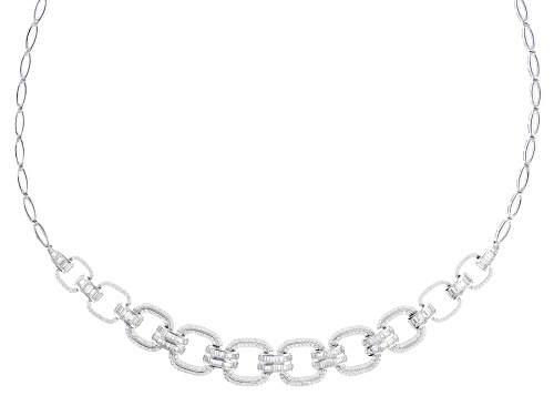 Photo of Bella Luce ® White Diamond Simulant Rhodium Over Sterling Silver Necklace - Size 18