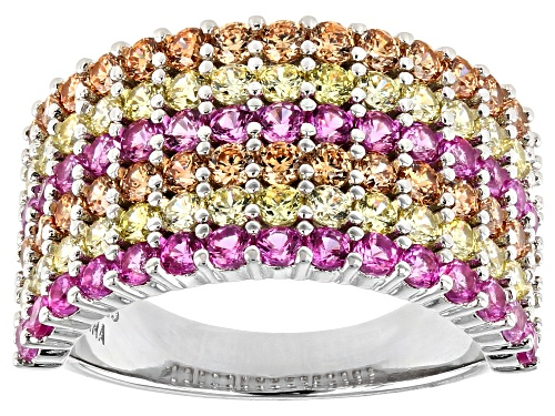 Photo of Bella Luce ® 4.32ctw Multi Color Diamond Simulants Rhodium Over Sterling Silver Ring (2.25ctw DEW) - Size 7