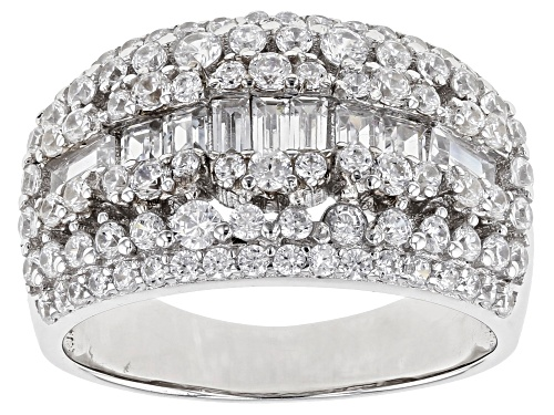 Photo of Bella Luce ® 3.07ctw White Diamond Simulant Rhodium Over Sterling Silver Ring (1.97ctw DEW) - Size 5