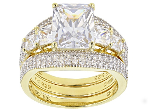 Photo of Bella Luce ® 9.07ctw White Diamond Simulant Eterno™ Yellow Ring With 2 Bands (5.59ctw DEW) - Size 12