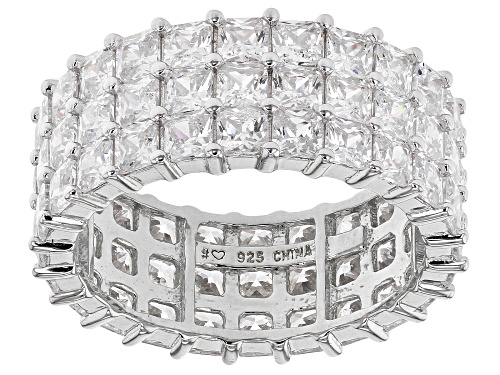 Photo of Bella Luce ® 11.59ctw Rhodium Over Silver Eternity Band Ring (7.20ctw DEW) - Size 8