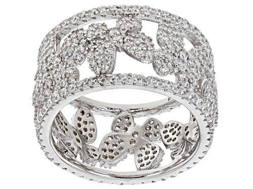Photo of Bella Luce ® 3.55ctw White Diamond Simulant Rhodium Over Silver Butterfly Ring (2.04ctw DEW) - Size 7