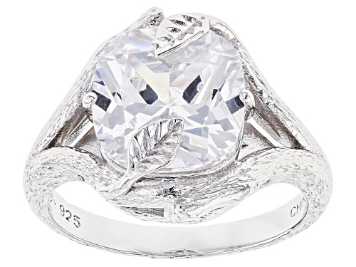 Photo of Bella Luce ® 6.08ctw Rhodium Over Sterling Silver Ring (3.87ctw DEW) - Size 8