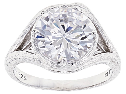Photo of Bella Luce ® 5.94ctw Rhodium Over Sterling Silver Ring (3.87ctw DEW) - Size 8