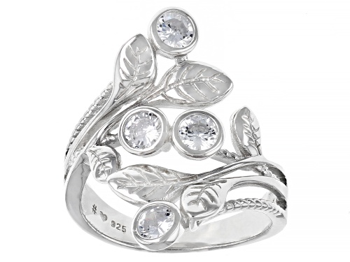 Photo of Bella Luce ® 1.62ctw Rhodium Over Sterling Silver Leaf Ring (1.00ctw DEW) - Size 7