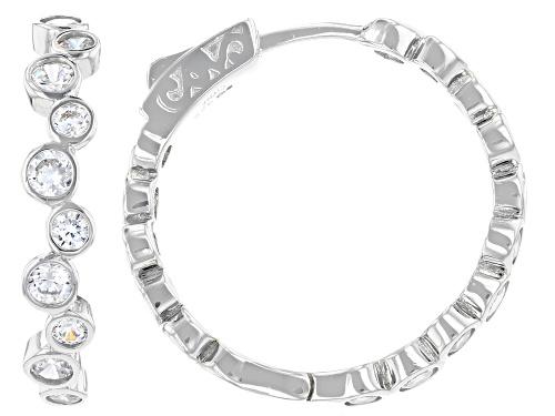 Photo of Bella Luce ® 4.53ctw Rhodium Over Sterling Silver Hoop Earrings (2.72ctw DEW)