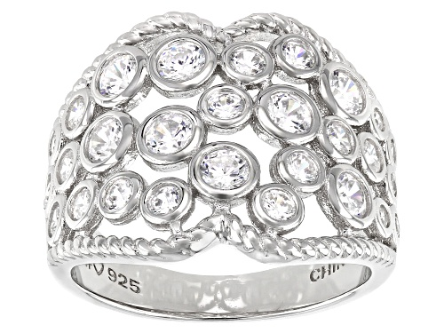 Photo of Bella Luce ® 2.42ctw Rhodium Over Sterling Silver Ring (1.15ctw DEW) - Size 7