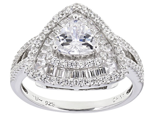 Photo of Bella Luce ® 2.45ctw Rhodium Over Sterling Silver Ring (1.21ctw DEW) - Size 5