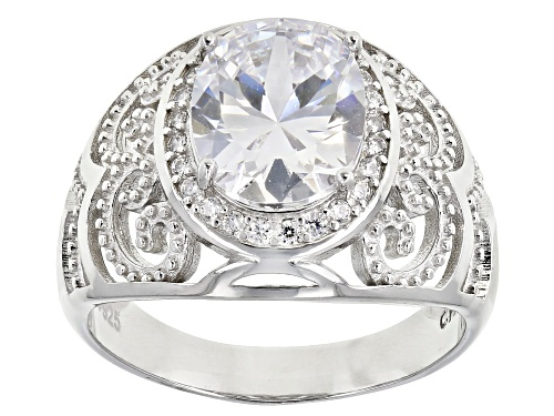 Photo of Bella Luce ® 3.90ctw Rhodium Over Sterling Silver Ring (2.66ctw DEW) - Size 7