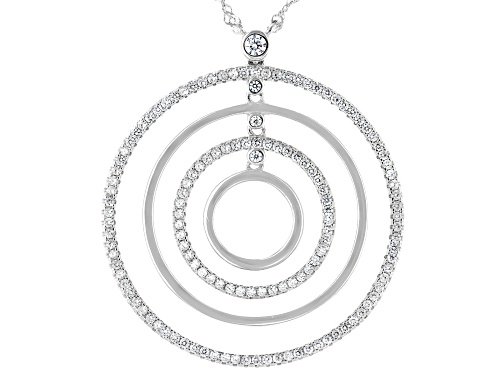 Photo of Bella Luce ® 1.05ctw Rhodium Over Sterling Silver Necklace (0.72ctw DEW) - Size 18
