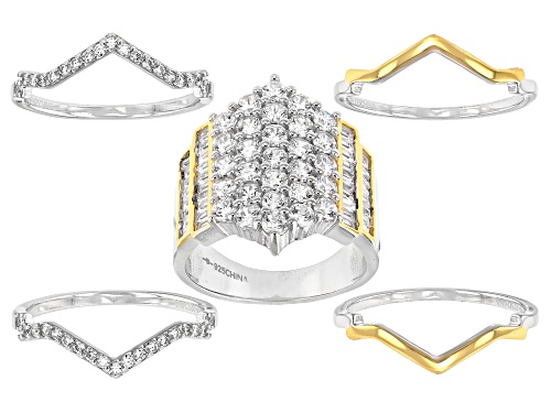 Photo of Bella Luce ® 4.87ctw Rhodium And 14K Yellow Gold Over Sterling Silver Stackable Ring (2.84ctw DEW) - Size 8