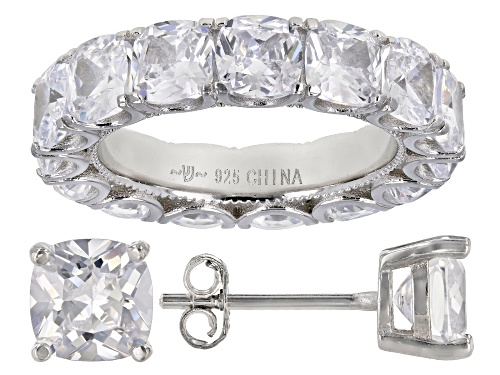 Photo of Bella Luce ® 15.03ctw Rhodium Over Sterling Silver Ring And Earrings (8.58ctw DEW)