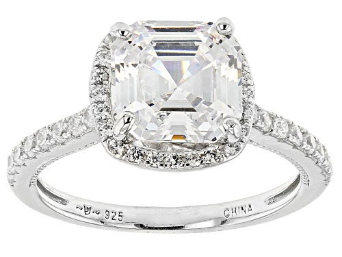 Photo of Bella Luce ® 4.35ctw Rhodium Over Sterling Silver Asscher Cut Ring (3.48ctw DEW) - Size 8