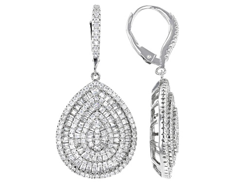 Photo of Bella Luce ® 5.02ctw Rhodium Over Sterling Silver Earrings