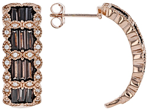 Photo of Bella Luce ® 3.70ctw Mocha And White Cubic Zirconia Eterno™ Rose Earrings (2.66ctw DEW)