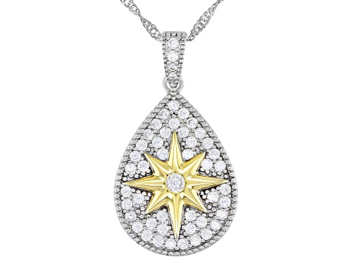 Photo of Bella Luce ® 1.23ctw Rhodium and 14K Yellow Gold Over Silver Pendant With Chain (0.74ctw DEW)