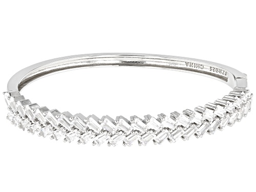 Photo of Bella Luce ® 6.10ctw Rhodium Over Sterling Silver Bangle Bracelet - Size 6.5