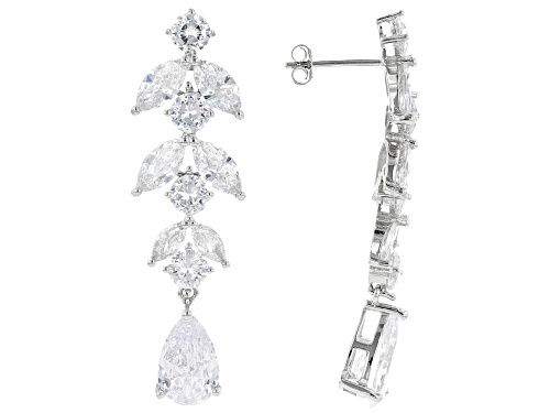 Photo of Bella Luce ® 16.55ctw Rhodium Over Sterling Silver Earrings (11.24ctw DEW)
