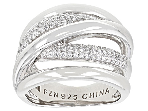 Photo of Bella Luce ® 0.55ctw Rhodium Over Sterling Silver Ring (0.38ctw DEW) - Size 6