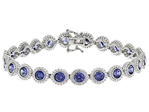 Photo of Bella Luce® Esotica™ 17.84ctw Tanzanite And White Diamond Simulants Rhodium Over Silver Bracelet - Size 8