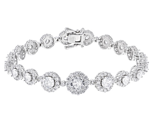 Photo of Bella Luce ® 15.54ctw Rhodium Over Sterling Silver Tennis Bracelet (9.60ctw DEW) - Size 7.25