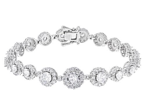 Photo of Bella Luce ® 15.54ctw Rhodium Over Sterling Silver Tennis Bracelet (9.60ctw DEW) - Size 7.25