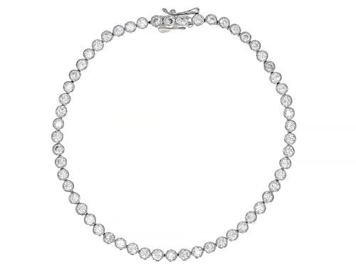 Photo of Bella Luce ® 6.04ctw White Diamond Simulant Rhodium Over Sterling Silver Bracelet (3.48ctw DEW) - Size 8