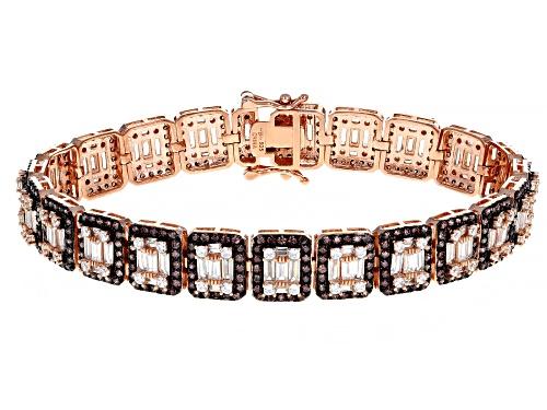 Photo of Bella Luce ® 13.10ctw Mocha And White Diamond Simulants Eterno™ Rose Bracelet (9.68ctw DEW) - Size 8