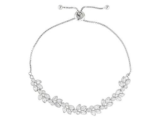Photo of Bella Luce ® 3.63ctw Rhodium Over Sterling Silver Adjustable Bracelet