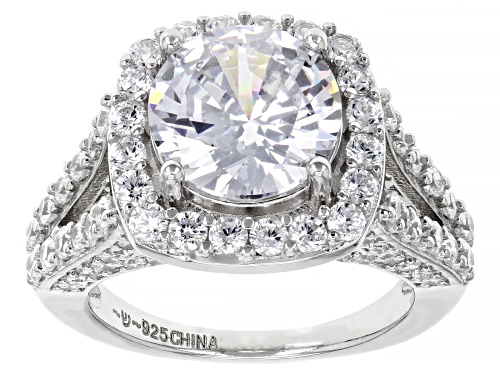 Photo of Bella Luce ® 8.68ctw Rhodium Over Sterling Silver Ring (5.63ctw DEW) - Size 7
