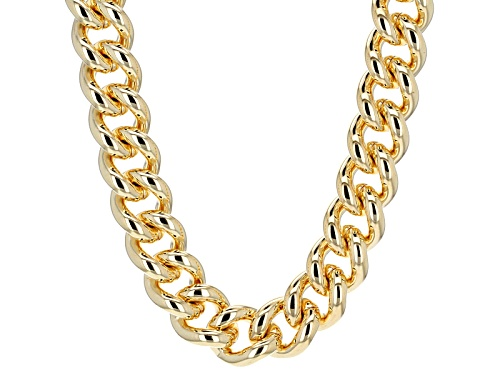 Photo of Moda Al Massimo® 18k Yellow Gold Over Bronze Large Curb Link 20 Inch Necklace - Size 20